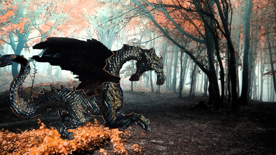 Dragon In The Forest1